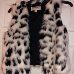 Michael Kors short fur vest